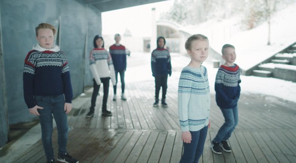 Bilete frå innspelinga av musikkvideoen til Nordmannen-rap.