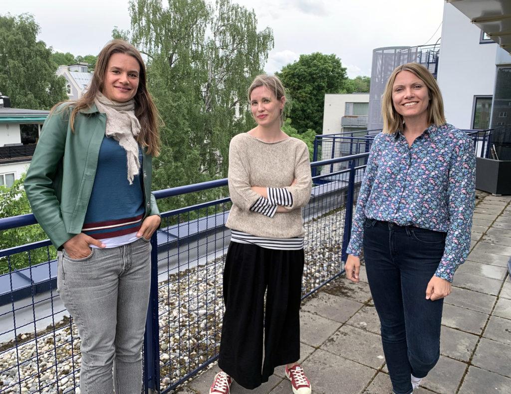 Foto av Randi Fuglehaug, Maria Horvei og Ruth Lillegraven.